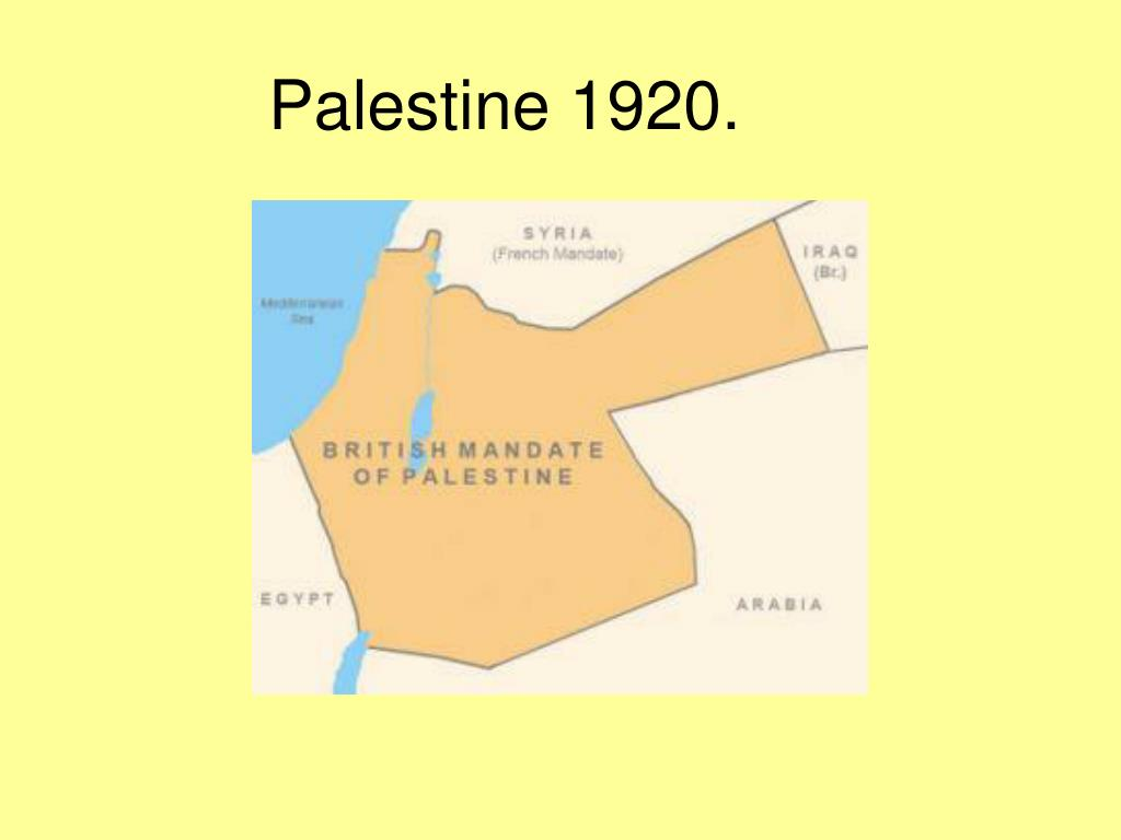 Palestine 1920.