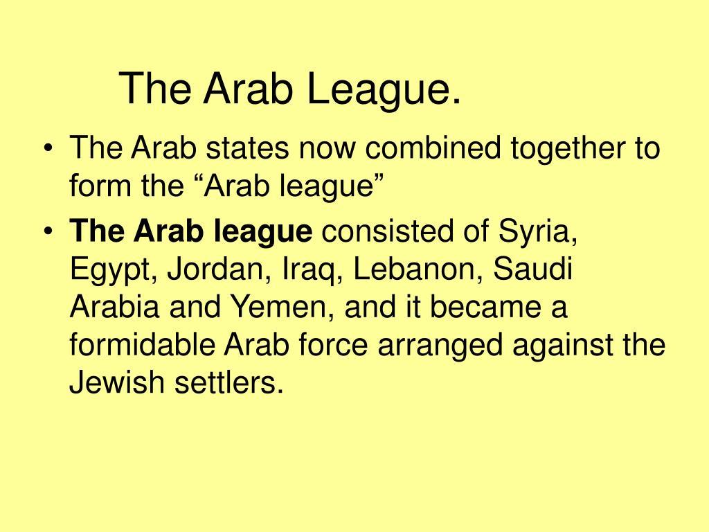 The Arab League.