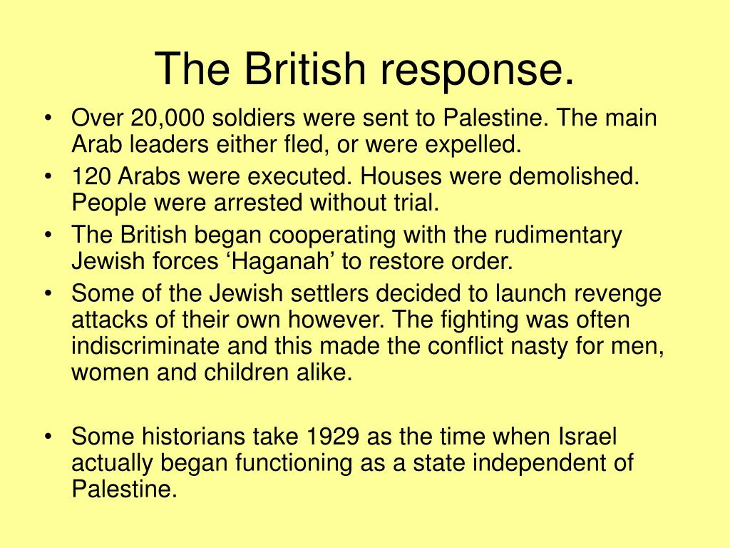 The British response.