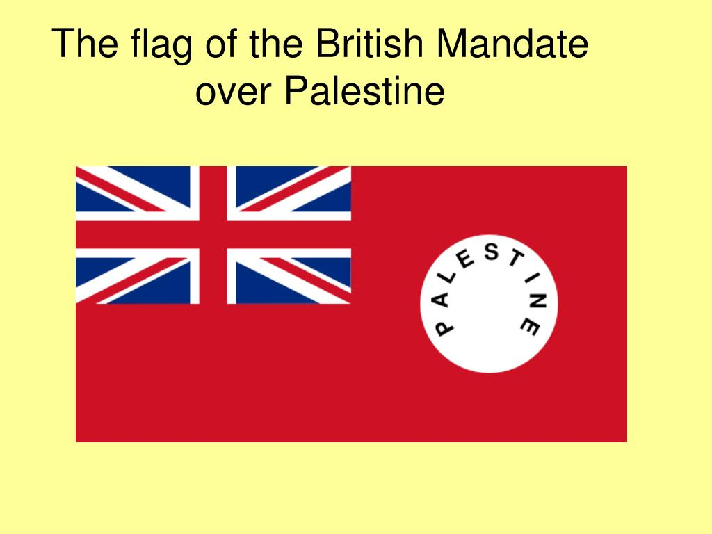 The flag of the British Mandate over Palestine