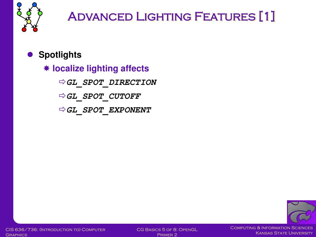 Advanced Lighting Features [1]