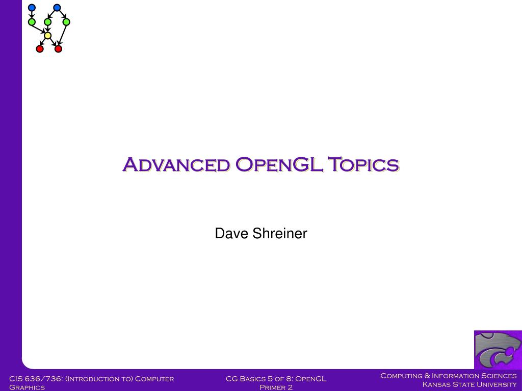 Advanced OpenGL Topics