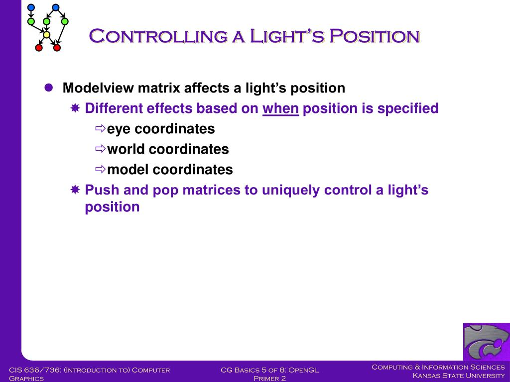 Controlling a Light's Position