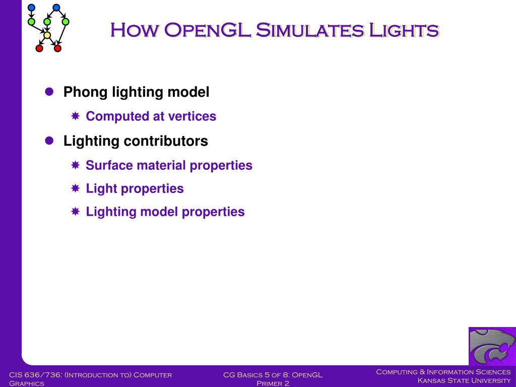 How OpenGL Simulates Lights