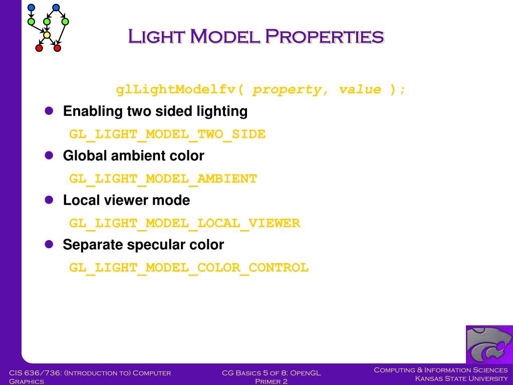 Light Model Properties