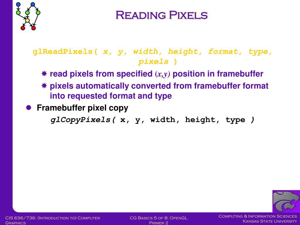 Reading Pixels