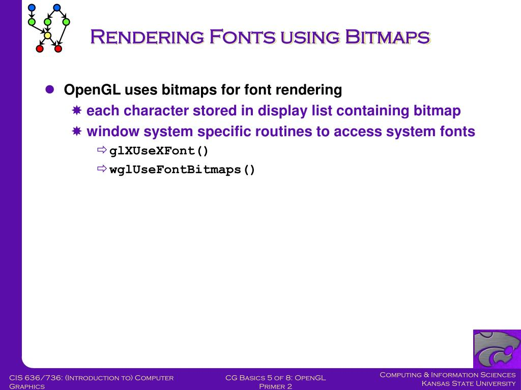 Rendering Fonts using Bitmaps
