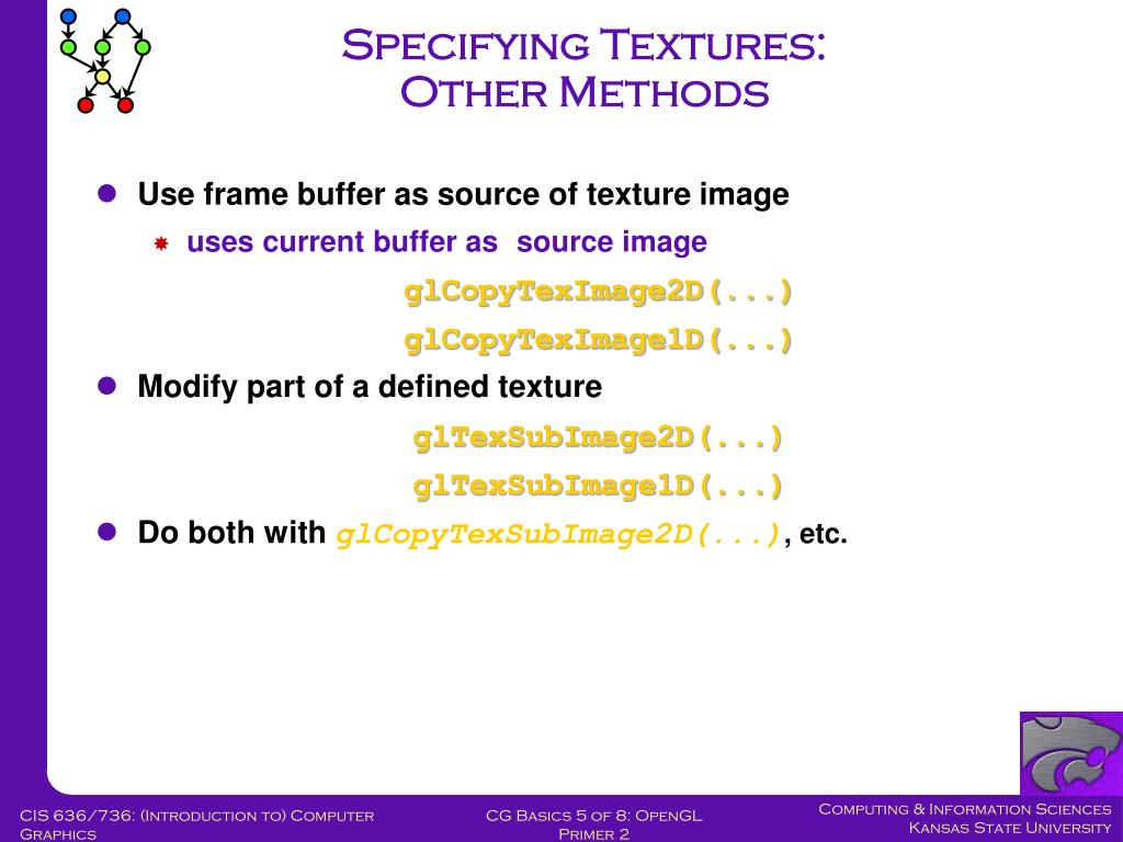 Specifying Textures: