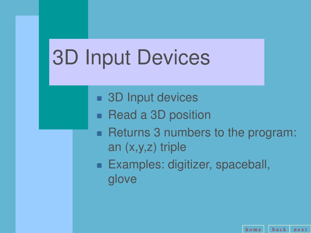 3D Input Devices