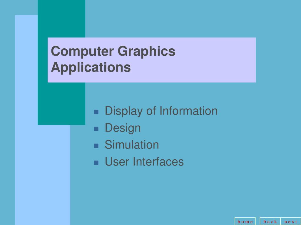 Computer Graphics Applications