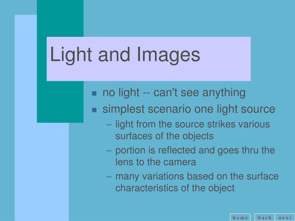 Light and Images