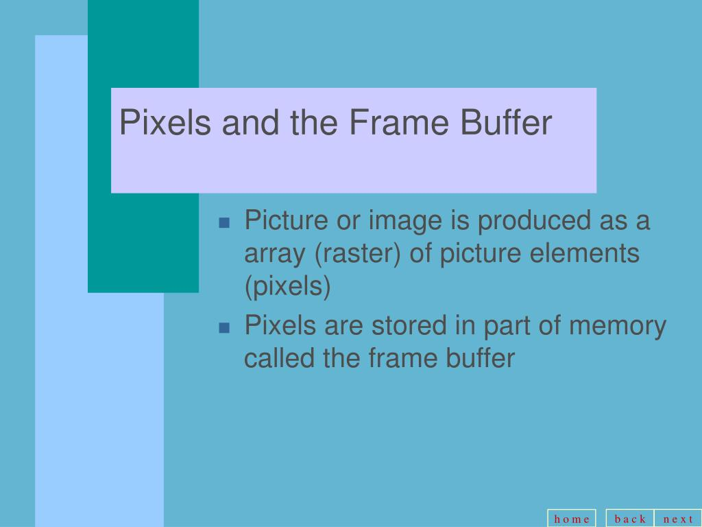 Pixels and the Frame Buffer