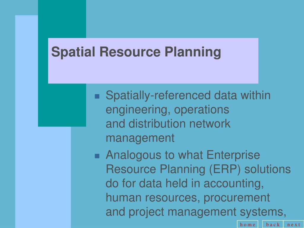 Spatial Resource Planning