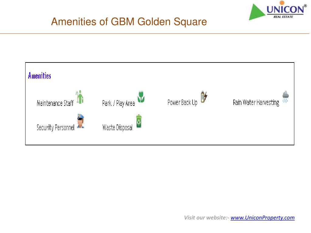 Amenities of GBM Golden Square