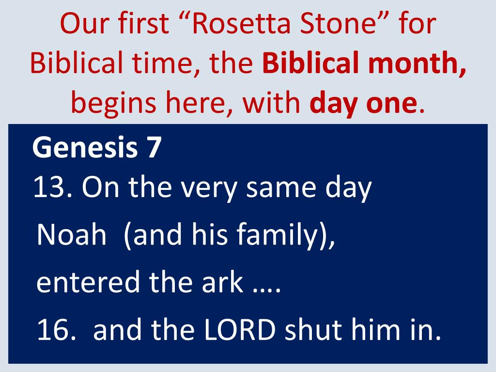 """Our first """"Rosetta Stone"""" for"""