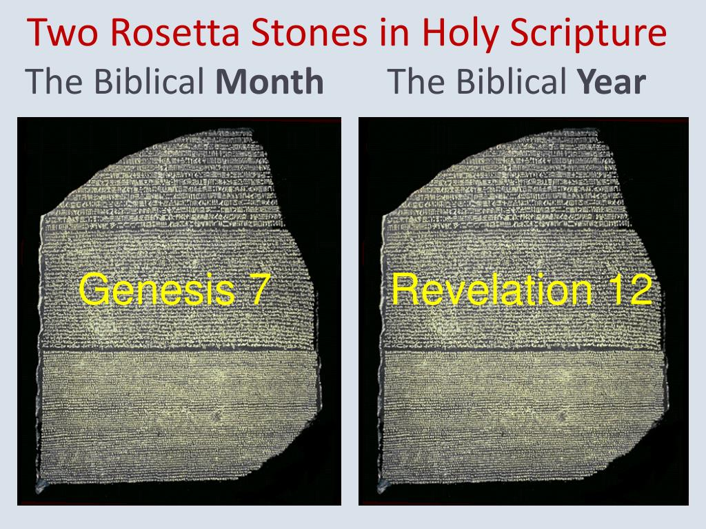 Two Rosetta Stones in Holy Scripture