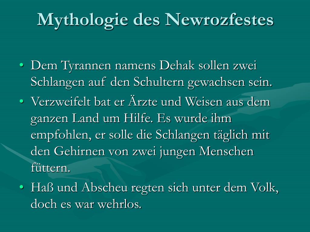 Mythologie des Newrozfestes