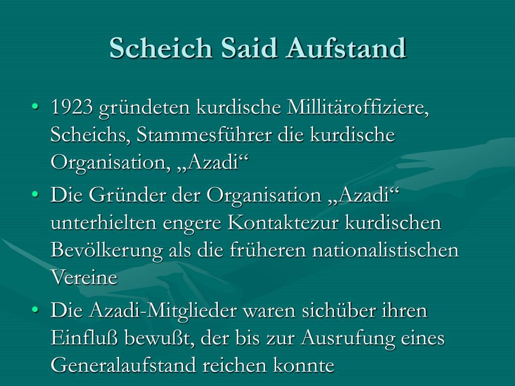 Scheich Said Aufstand
