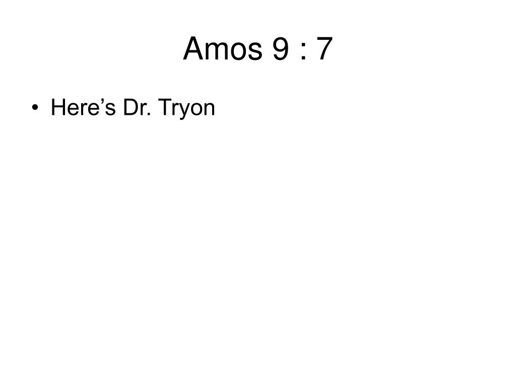 Amos 9 : 7
