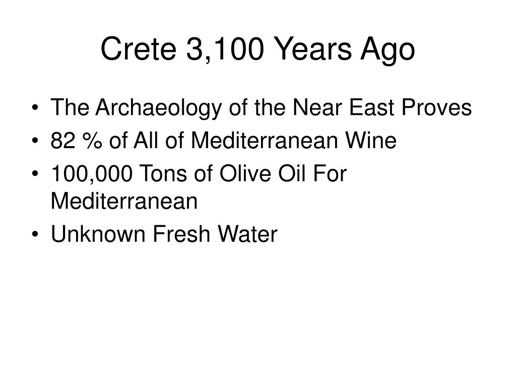 Crete 3,100 Years Ago