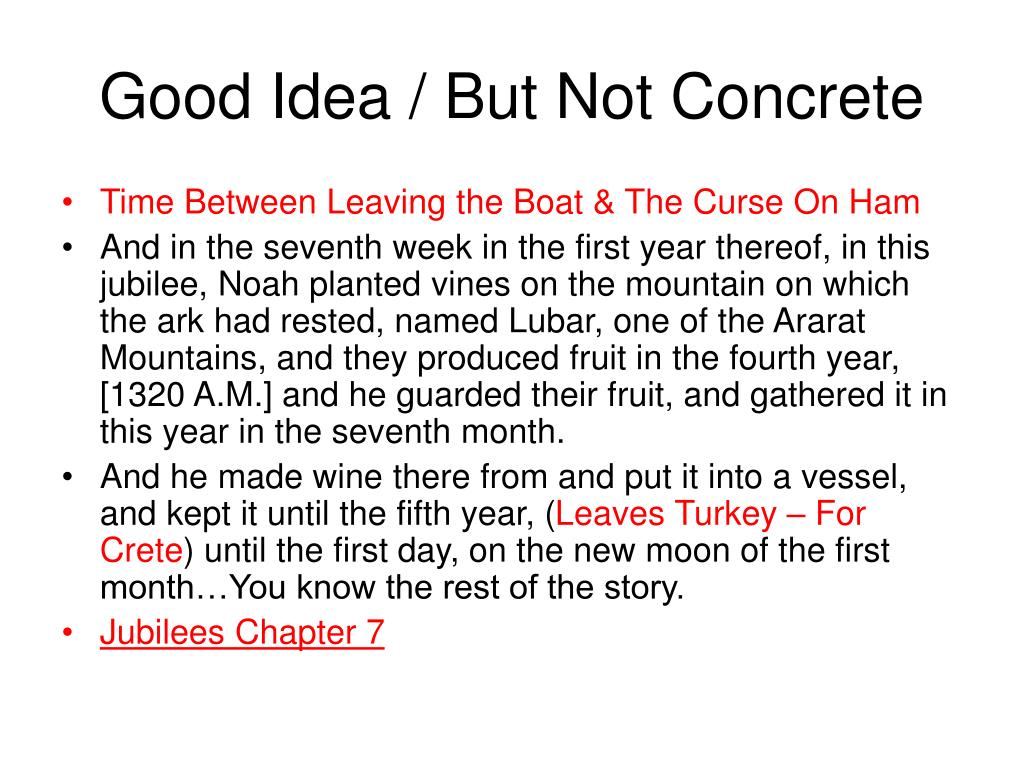 Good Idea / But Not Concrete