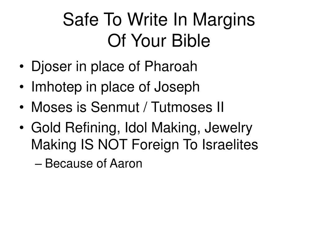 Safe To Write In Margins