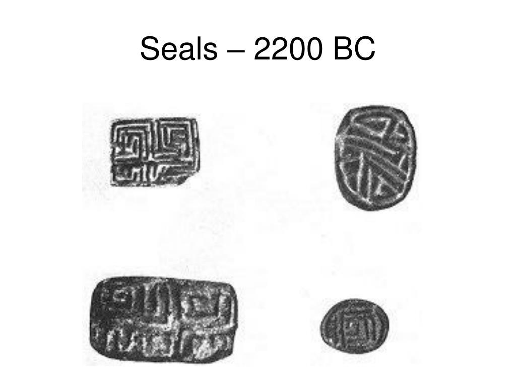 Seals – 2200 BC