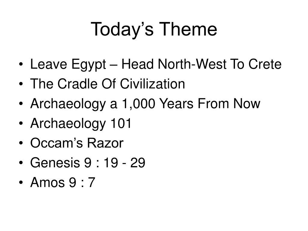 Today's Theme
