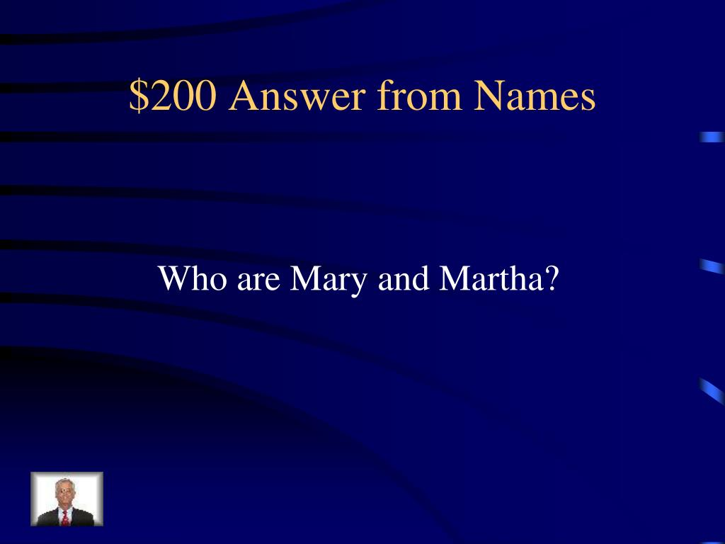 $200 Answer from Names
