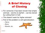 a brief history of cloning