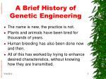 a brief history of genetic engineering