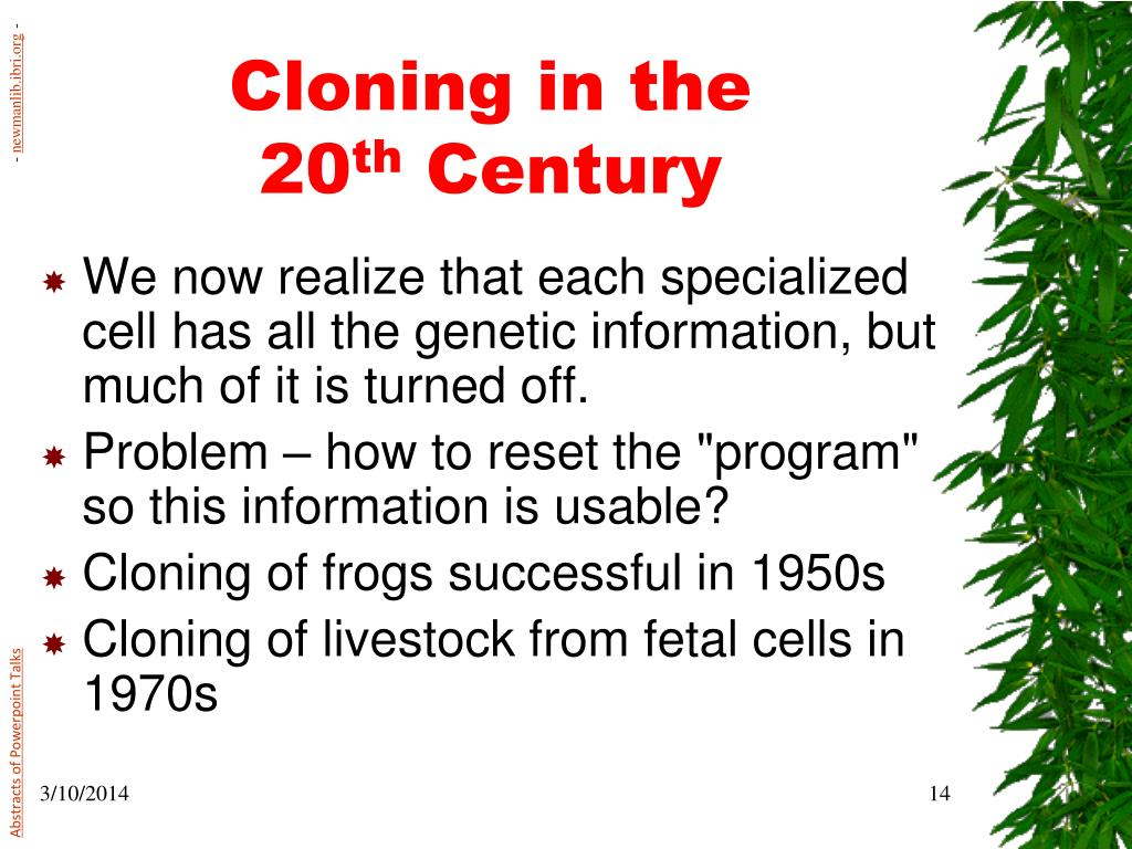 Cloning in the