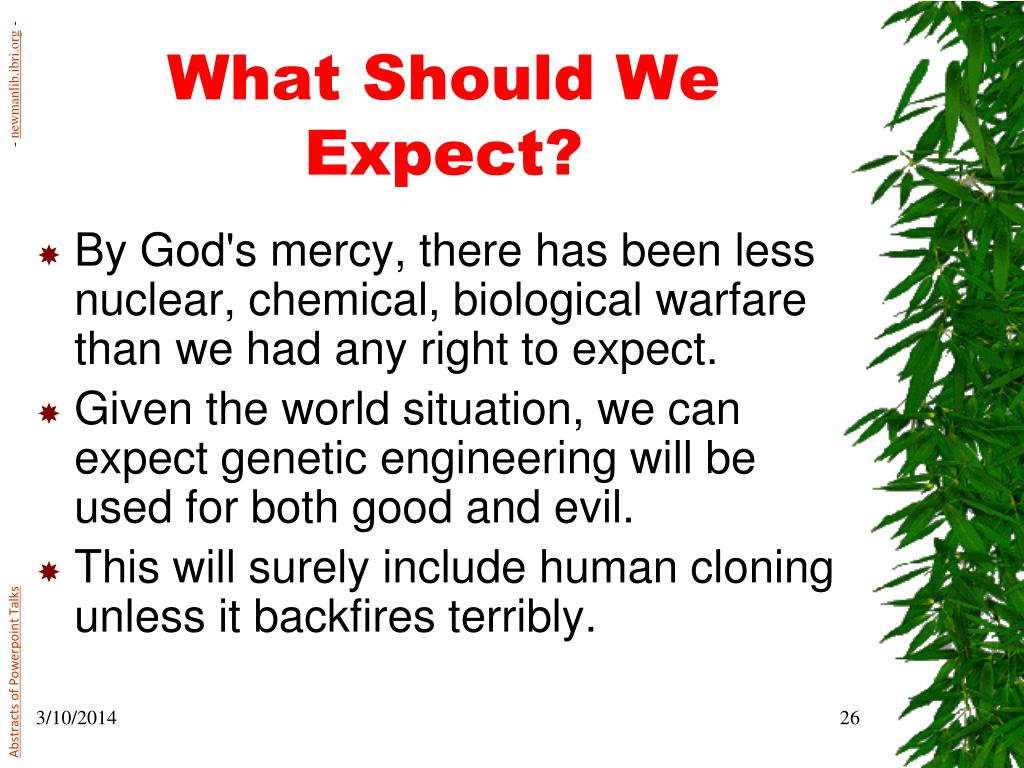 What Should We Expect?