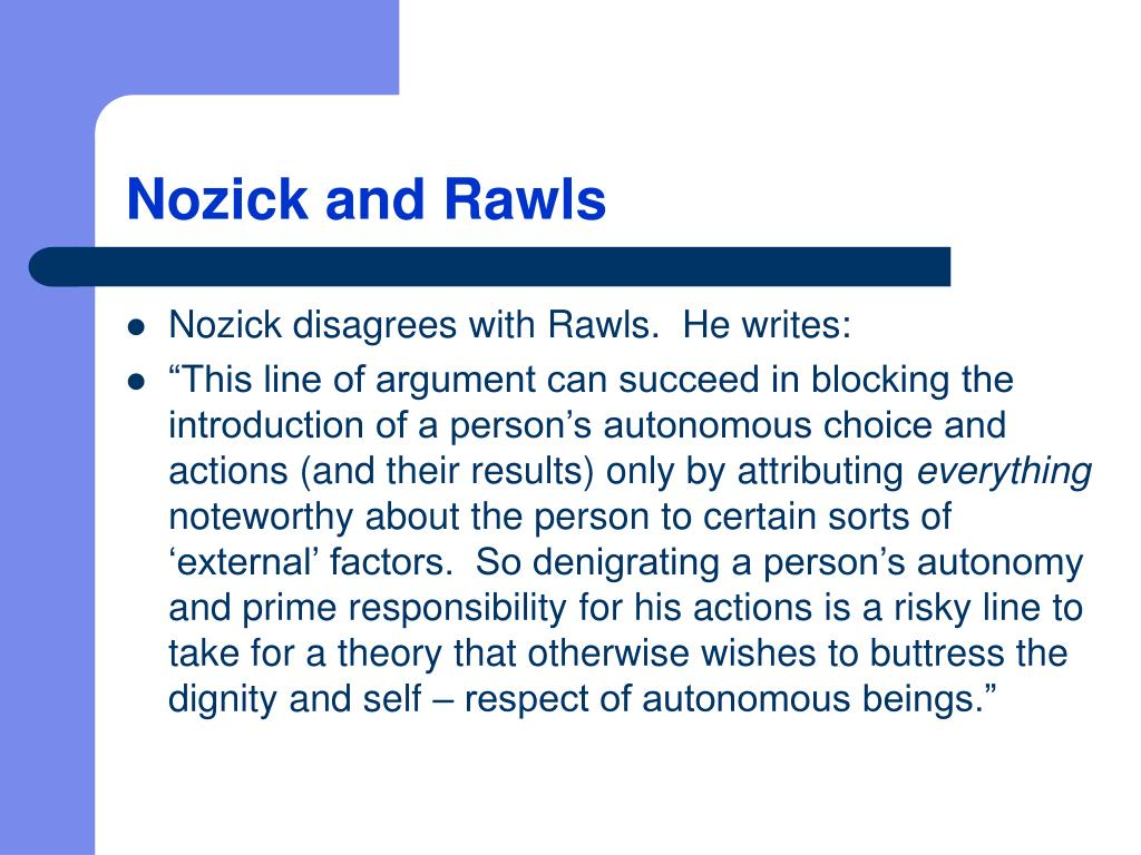 Nozick and Rawls