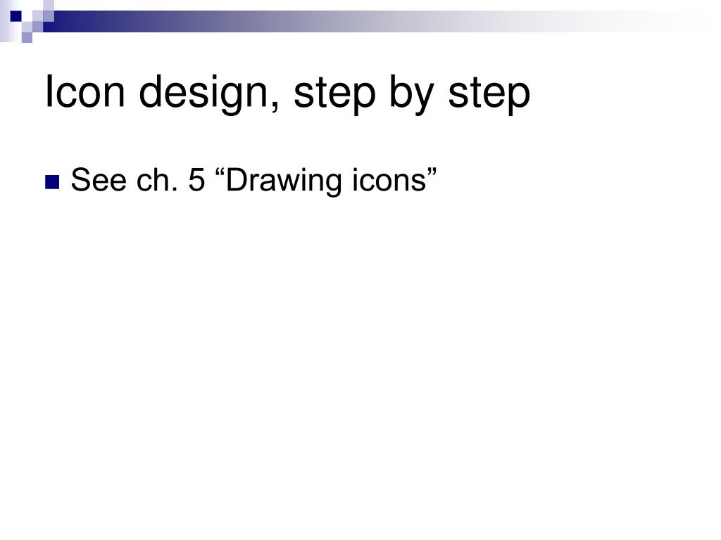 Icon design, step by step