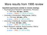 more results from 1995 review