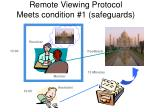 remote viewing protocol meets condition 1 safeguards