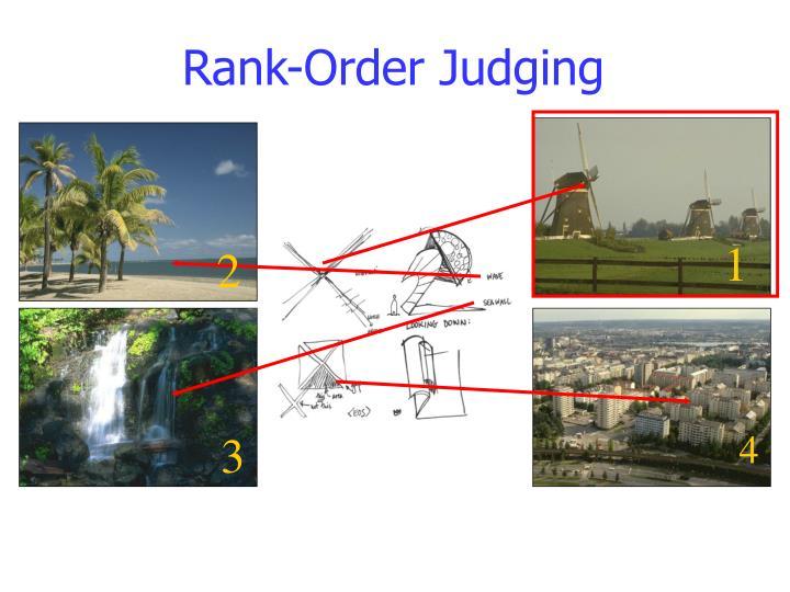 Rank-Order Judging