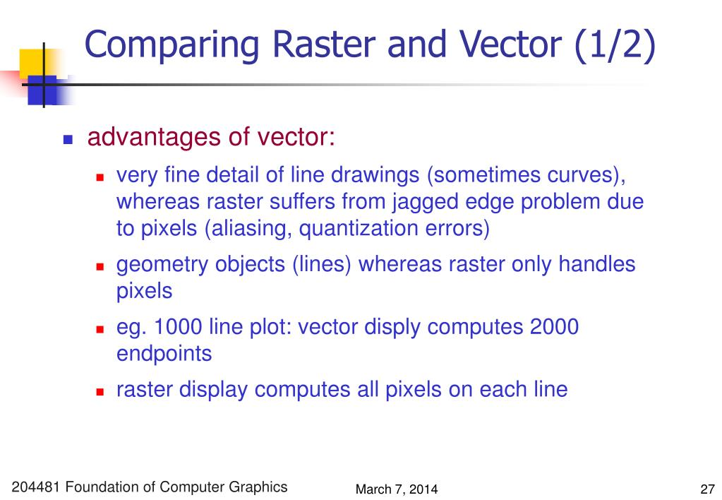 Comparing Raster and Vector (1/2)