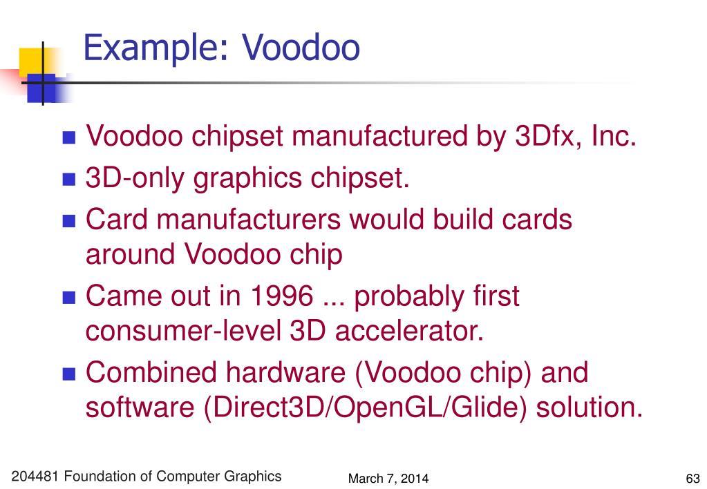 Example: Voodoo