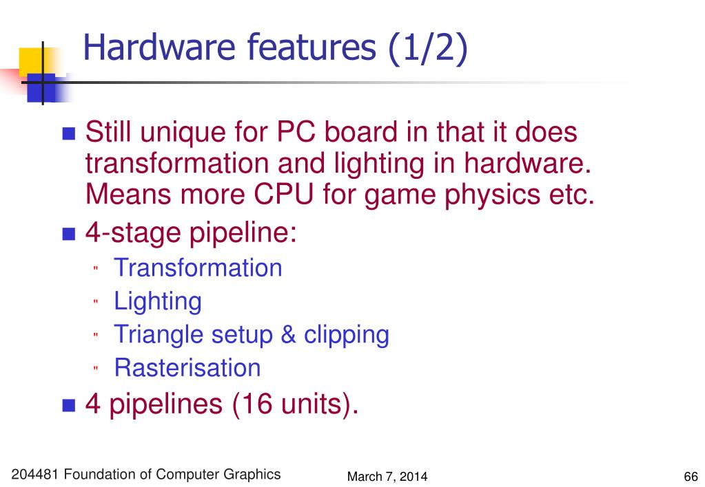 Hardware features (1/2)