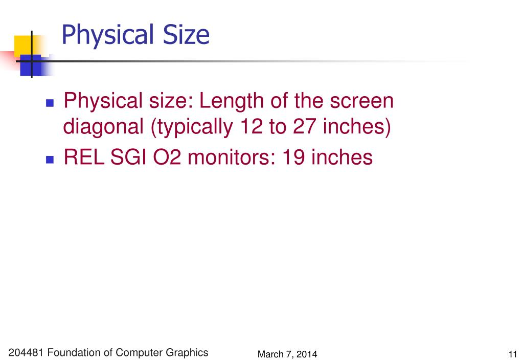 Physical Size