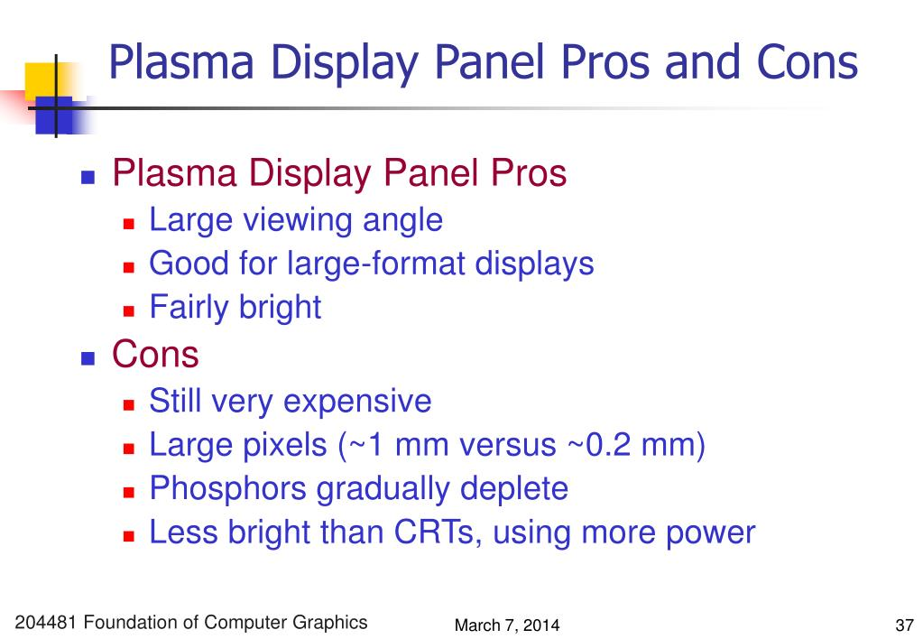 Plasma Display Panel Pros and Cons