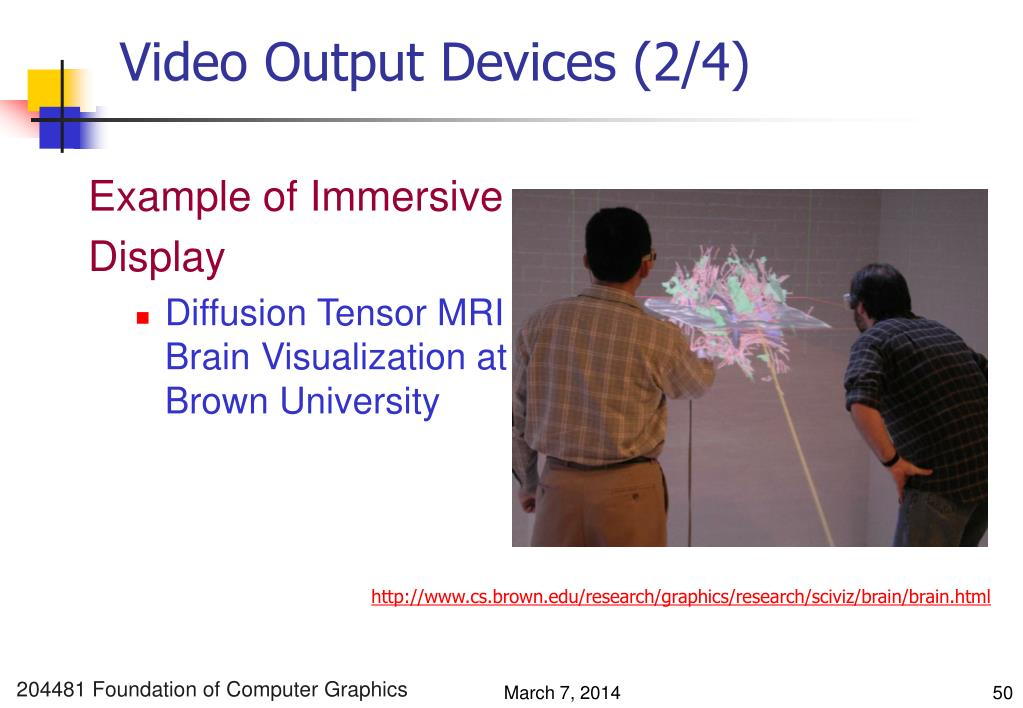 Video Output Devices (2/4)