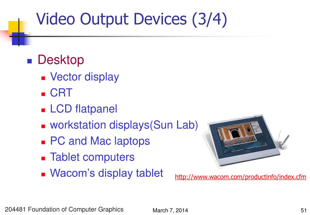 Video Output Devices (3/4)