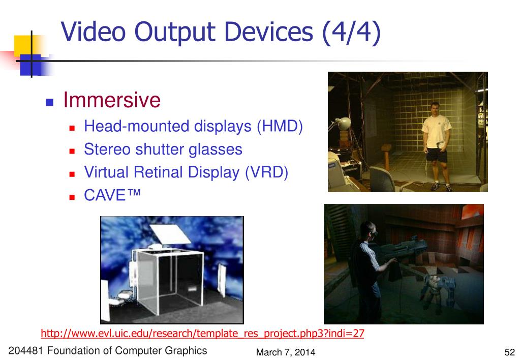 Video Output Devices (4/4)
