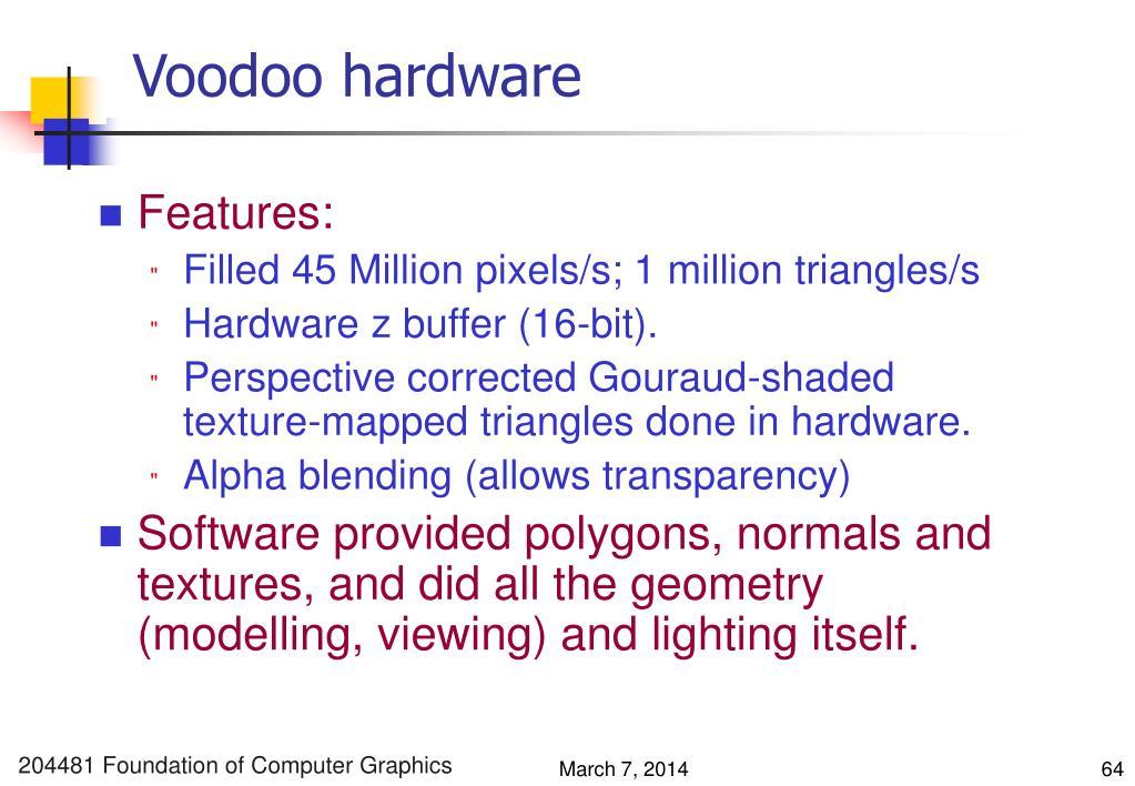 Voodoo hardware