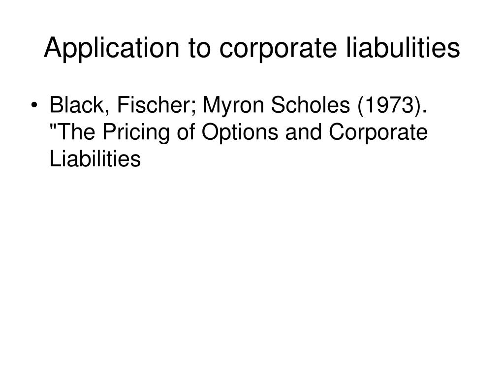 Application to corporate liabulities