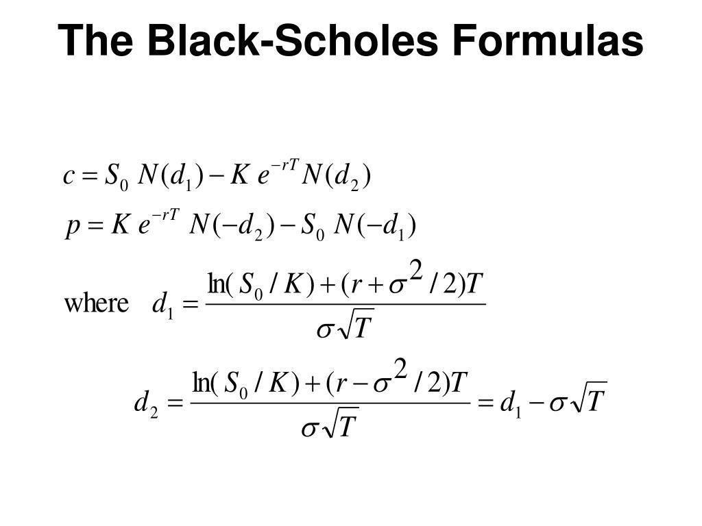 The Black-Scholes Formulas