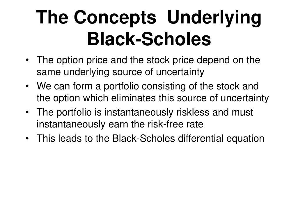 The Concepts  Underlying Black-Scholes